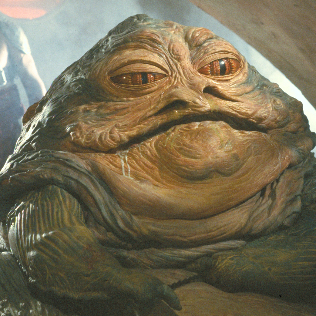Jaba the Hutt, a giant anthropomorphic slug monster crime lord from outer space
